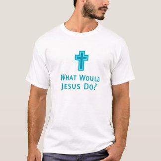 Was würde Jesus tun? katholische christliche T-Shirt