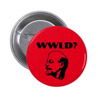 Was würde Lenin tun? Knopf Runder Button 5,1 Cm
