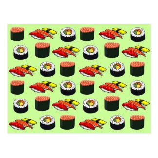 Wasabi grüne Sushi Postkarte