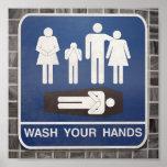 Waschen Sie Ihre Hände Poster