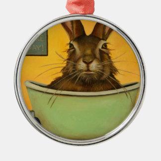 Waschen Sie Ihre Hasen Silbernes Ornament
