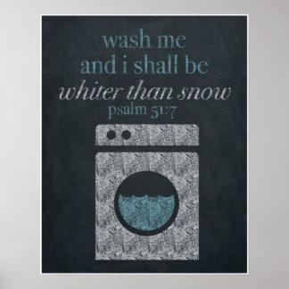 Waschen Sie mich Tafel-Kunst 16x20 Poster