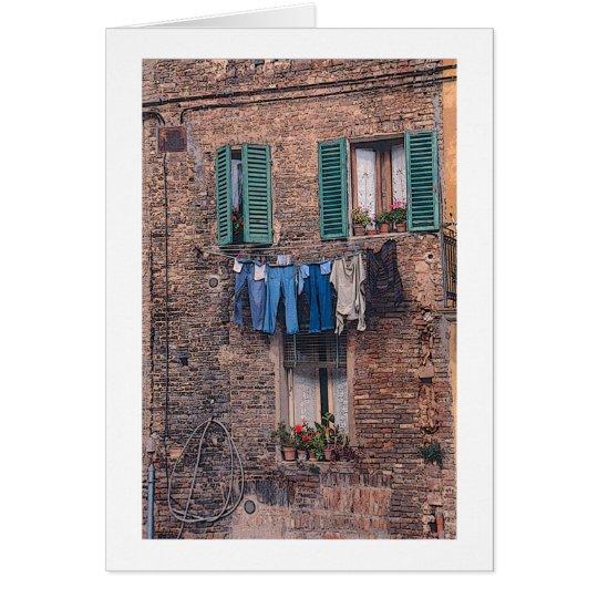 """""""Wäscherei-Tag in Italien"""" photographische Karte"""