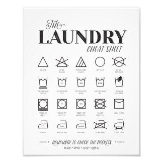 Waschküche-Spickzettel Fotodruck