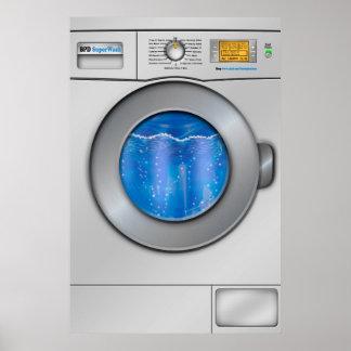Waschmaschine Poster