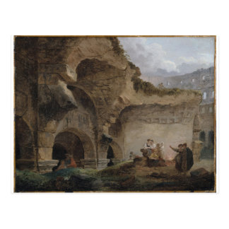 Washerwomen in den Ruinen des Colosseum Hubert Postkarte