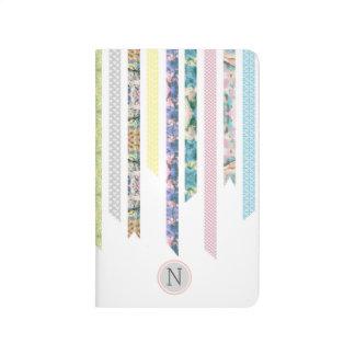 Washi Band-Pastelle | DIY u. Monogramm des Taschennotizbuch