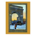 Washington-Bogen an der Winter-Dämmerung Postkarten