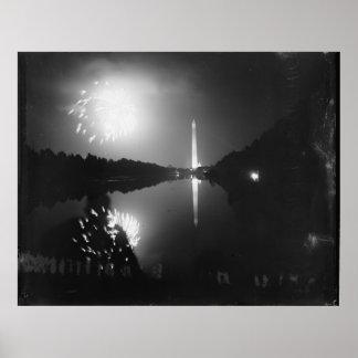 Washington DC; Am 5. Juli 1939 Feuerwerke Poster