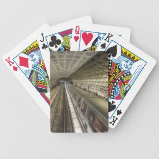 Washington DC-Metro-Bahnstation Bicycle Spielkarten