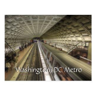 Washington DC-Metro-Bahnstation Postkarte