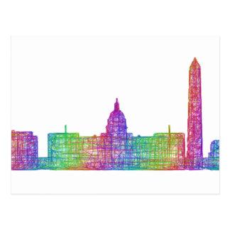 Washington DC-Skyline Postkarte