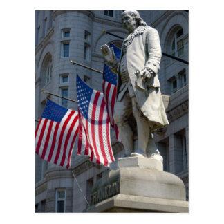 Washington, DC, Statue von Benjamin Franklin Postkarte