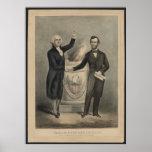 Washington et Lincoln Posters