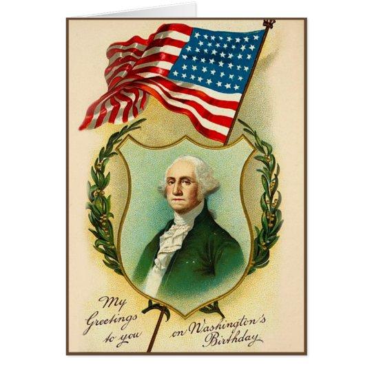 Washington-Geburtstags-Gruß Karte