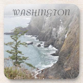 Washington-Küstenlinien-Foto-Untersetzer-Set Getränkeuntersetzer