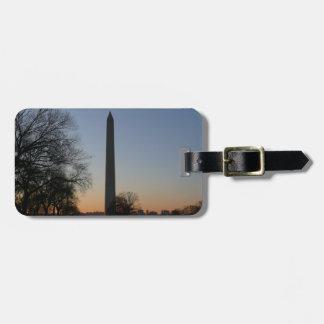 Washington-Monument am Sonnenuntergang Gepäckanhänger