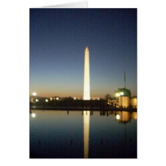 Washington-Monument an der Dämmerung Karte