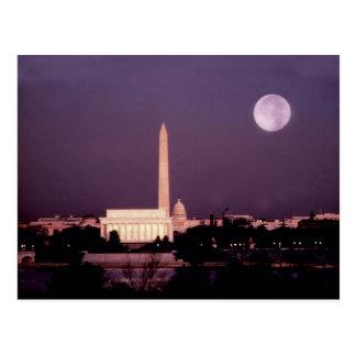 Washington-Monument, die Hauptstadt und Jefferson Postkarte