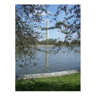 Washington-Monument im Frühjahr Postkarte