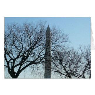 Washington-Monument im Winter reise ich Fotografie Karte