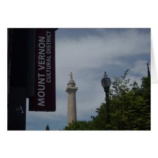 Washington-Monument in Mount Vernon Baltimore Karte