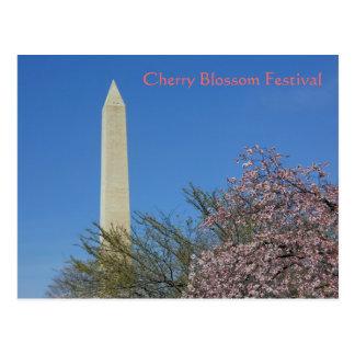 Washington-Monument-Kirschblüten-Festival Postkarte