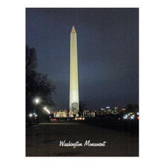 Washington-Monument nachts 001 Postkarte