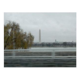 Washington-Monument über dem Fluss Postkarte