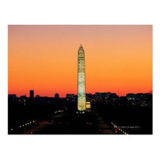 Washington-Monument unter Wiederherstellung am Postkarte
