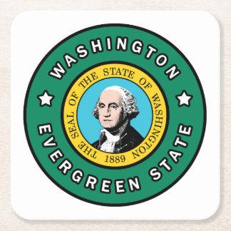 Washington Rechteckiger Pappuntersetzer
