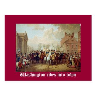 Washington reitet in Stadt Postkarte
