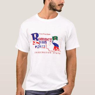 Washington-Staat Romney und Ryant-shirt 2012 2 T-Shirt