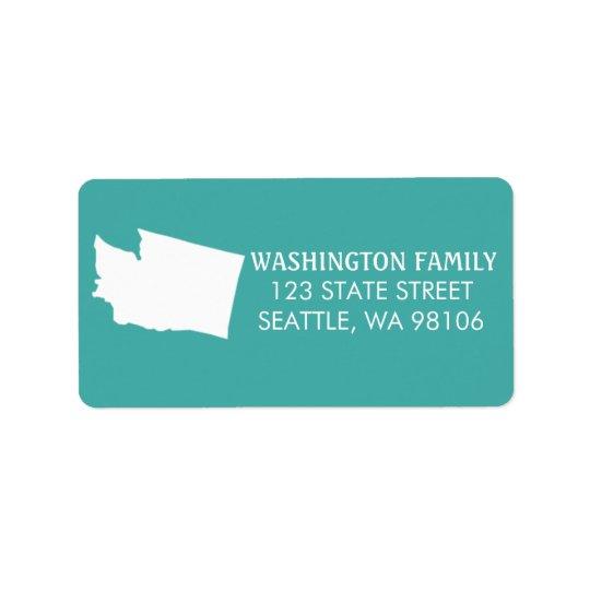 Washington-Staats-Rücksendeadressen-Aufkleber - Adressaufkleber