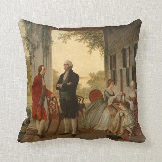 Washington u. Lafayette an der Mount- Vernonkissen Kissen