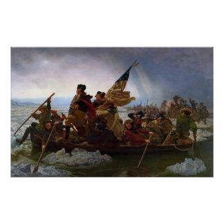 Washington, welches das Delaware durch Emanuel Poster