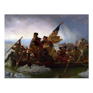 Washington, welches das Delaware durch Emanuel Postkarte