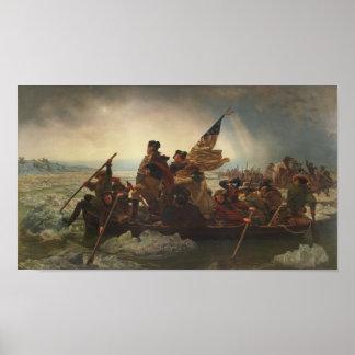 Washington, welches die Delaware-Malerei kreuzt Poster