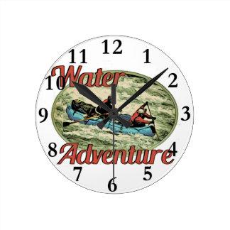 Wasser-Abenteuer Runde Wanduhr