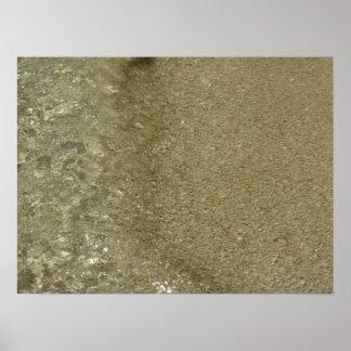 Wasser auf der abstrakten Natur-Fotografie des Poster