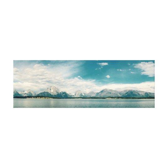 Wasser/Berg 91.44cm x 30.48cm, 3.81cm Leinwanddruck