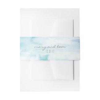 Wasser-Farbbestimmungsort-Bauch-Band Einladungsbanderole