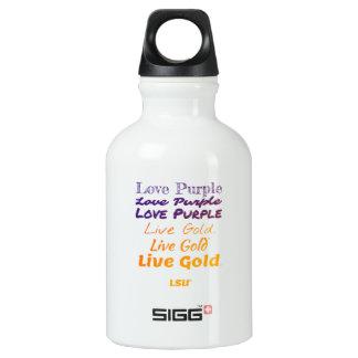 Wasser-Flasche des Liebe-lila LivegoldLSU Aluminiumwasserflasche