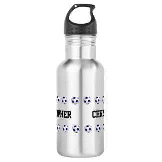 Wasser-Flasche, personalisiert, Fußball, Stahl Edelstahlflasche