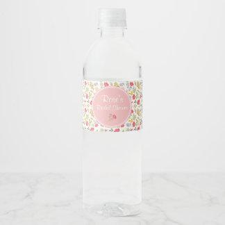 Wasser-Flaschen-Aufkleber der Rosen-Blumen|