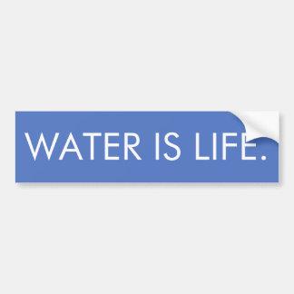 Wasser ist Leben Autoaufkleber