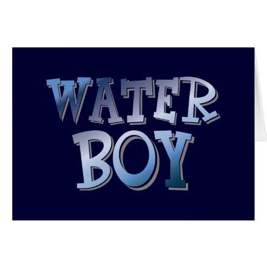 Wasser-Junge Grußkarte