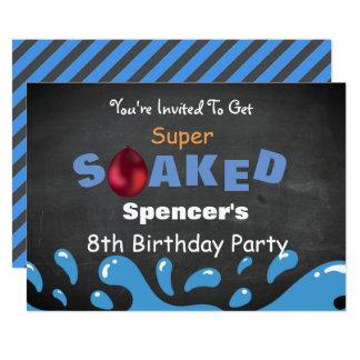 Wasser-Kampf-Geburtstags-Party Karte