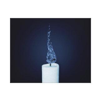 Wasser-Kerze Galerie Faltleinwand