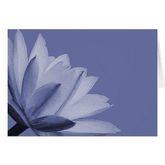 Wasser-Lilien-Blumen-FotoChic mit Blumen Karte